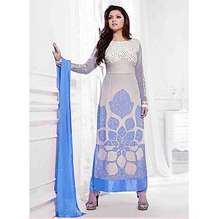 Salwar Soul Designer Blue Georgette Embroidery Salwar Suits