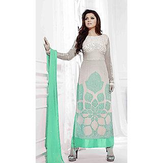Salwar Soul Designer Green Georgette Embroidery Dress