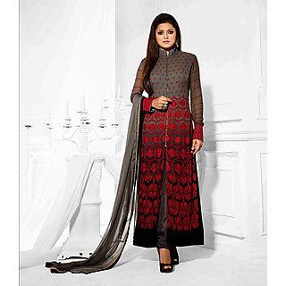 Salwar Soul Designer Red georgette Embroidery Salwar Suits