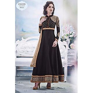 Salwar Soul Designer Black georgette Embroidery Anarkali Suits