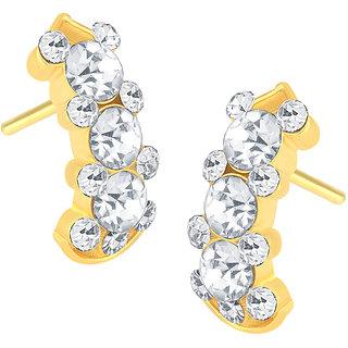 Shostopper Stunning Gold Plated Australian Diamond Earring