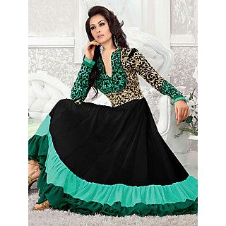 Salwar Soul Designer Black georgette Embroidery Dress