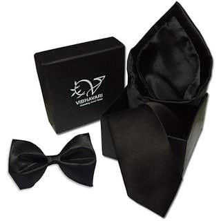 Vibhavari Men's  Tie,  Pocket Square & Bow Tie Vibhavari Men's  Tie,  Pocket Square & Bow Tie