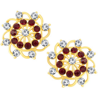 Shostopper Gold Plated Multicolor Alloy Studs For Women