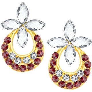 Shostopper Chandbali Gold Plated Australian Diamond Earring