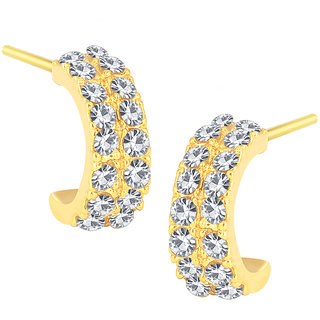 Shostopper Modern Gold Plated Australian Diamond Earring