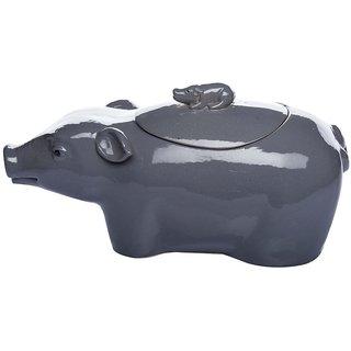 Marcou Artifacts Ceramic Pig Shaped Large Serving Bowl - CEBL00310034grey