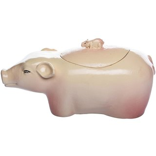 Marcou Artifacts Ceramic Pig Shaped Large Serving Bowl - CEBL00310034pink