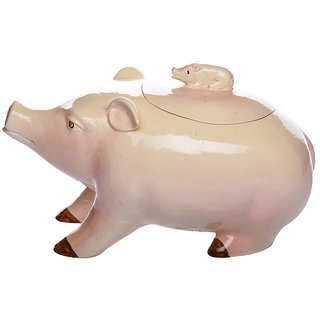 Marcou Artifacts Ceramic Pig Shaped Jumbo Serving Bowl - CEBL00410047
