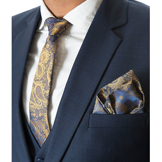 Vibhavari Men's Tie & Pocket Square Vibhavari Men's Tie & Pocket Square