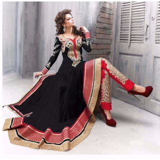 Salwar Soul Designer Black Net Embroidery Bollywood Suits