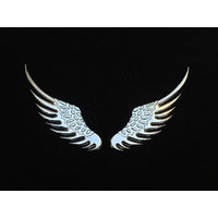 3D Car Logo Sticker Alloy Metal Angel Hawk Wings Emblem Badge Decal Eagle Wings