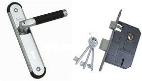 ATOM MZ1 Black CP Door Handle Set with Double Action Lock 3 Keys