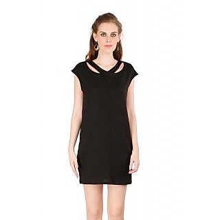 Remanika Shift Black Plain Women's Dress
