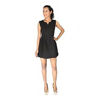 Remanika Shift Black Plain Women's Dress
