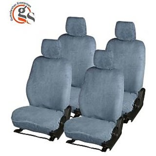 GS-Sweat Control Grey Towel Car Seat Cover for Nissan Micra