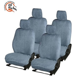 GS-Sweat Control Fixed Front Headrest Grey Towel Seat Cover For Hyundai Eon