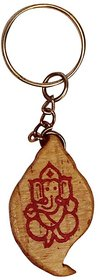 Key hanger with God Ganesh Carving in wood.