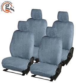 GS-Sweat Control Grey Towel Car Seat Cover for Toyota Etios