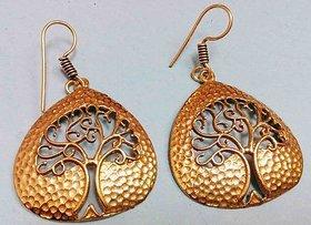 swirl Earrings Fine Gold Plated Brass