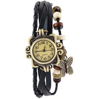 Round Dial Multicolor Leather Strap Womens Quartz Watch (Color As Per Availability) Unique Enterprise