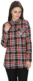 MansiCollections Multicolor Checkered Cotton Formal Shirts