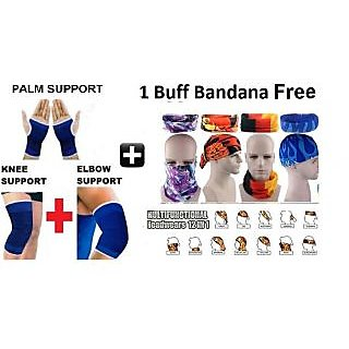 Combo of knee,Elbow,Palm and 1 Buff Headwear Free CODETO-8104