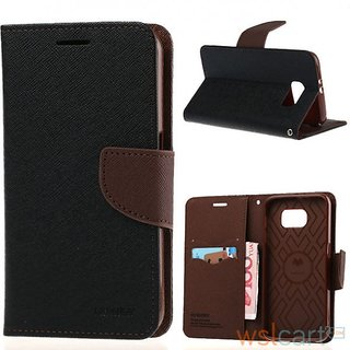 Apple Iphone 6/6s 6g Mercury Goospery Stand Flip Dairy Cover Case (BROWN/BLACK)