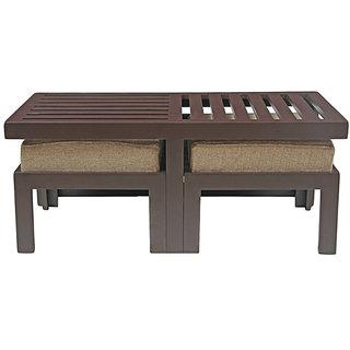 Ikiriya Solid Wood Coffee Table With 2 Stools