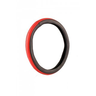 MP Car Steering Cover For Skoda Rapid Red-Black
