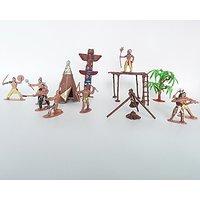 Indians Figures Plastic Toys Sandbox Aquarium Terrariums Miniature Garden Fairy Gardens Doll House Cake Topper Resin Dec