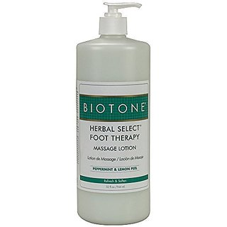 Biotone Herbal Foot Massage Lotion, 32 Ounce