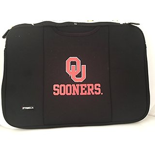 Tribeca The University of Oklahoma QU Sooners Black Laptop Sleeve for 15-inch to 16-inch Laptop and Macbook Pro 15 Noteb