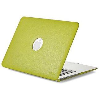 Kuzy - AIR 13-inch Lime GREEN Leather Hard Case for MacBook Air 13.3