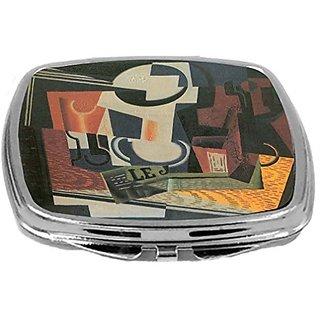 Rikki Knight Juan Gris Art Design Compact Mirror, Still Life with Fruit Bowl, 3 Ounce