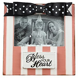Youngs Wood Bless Your Heart Picture Frame, 4