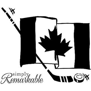 Vinyl Decal Sticker for Computer Wall Car Mac Macbook and More- Canada Canadian Hockey Flag - 5.2 x 4.4 inches