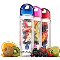 #1 Fruit Infused Water Bottle Blue - Premium Infuser Made of Tough Eastman Tritan Crystal Clear Material + Ebook recipes