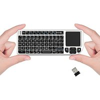 FAVI FE01-WH Mini 2.4GHz Wireless Keyboard Touchpad Wit
