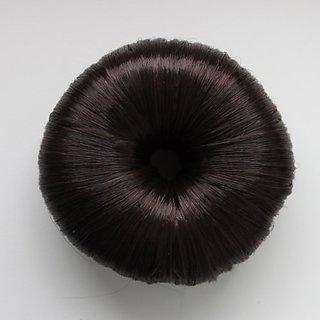 Hair Donut Up Do Hair Ring Hairstyler Bun creator Bridal Hair Piece (Brown)
