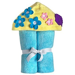 Yikes Twins Child Hooded Towel - Turquoise Mermaid