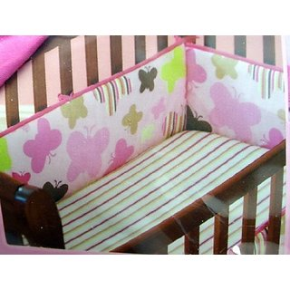 Itty Bitty Butterflies Crib Bumper Coordinates with 3 Piece Nursery Set