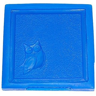 First Impression Molds B240 Medium Owl Baby Blanket Silicone Cake Decorating Mold, Medium, Blue