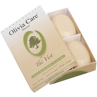 Olivia Care Hard Top Gift Box of 4 Soaps, Green Tea, 20-Ounce Boxes