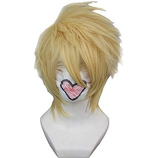 Wigle 12 Inches Layered Blonde Short Cosplay Wig Amnesia Toma Fancy Wigs