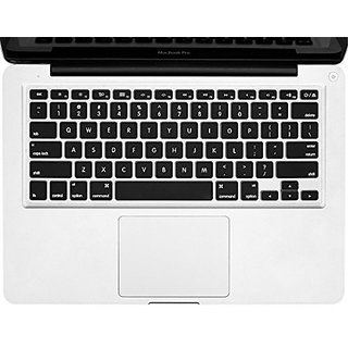 Allytech - BLACK Keyboard Cover Silicone Skin for MacBook Air 13