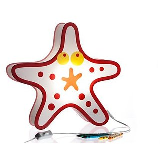 Nursery Lamp & Kids Room Lamp - Colorful LED Decorative Lamp - Starfish Design