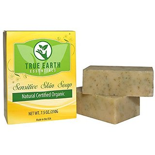 Eczema Psoriasis Bar Soap - 2 BARS PER BOX - Certified Organic from True Earth Essentials - Hypoallergenic - Sulfate-Fre