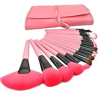 Samyo Makeup Brushes Affordable Cosmetic Makeup Brush Set Soft Synthetic Hair Easy to Clean-soft Carrying Case Bamboo Ha