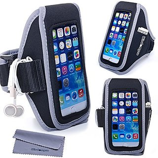 iPhone 6s Armband for Running Exercise, iPhone 6 Armband for workout, Wisdompro Sport Armband with Headphones Organizer